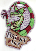 OLD: Brightfire Monster Hunter Badge by beefyrae