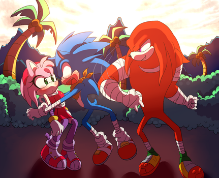 Knuckles supports sonamy by gerarodmont
