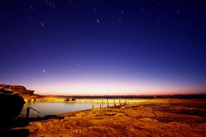 Startrails at the rock pools by Kounelli1