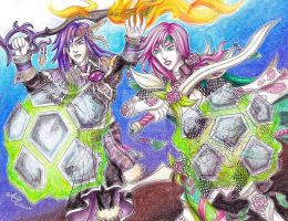 Caius x Lightning: Launching into Battle by LadyJuxtaposition