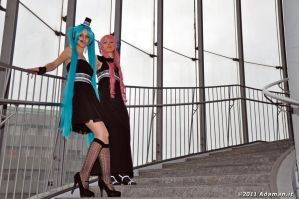 Miku and Luka_Pose Three by AlyTheKitten