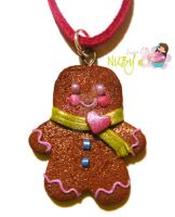 Gingi Man Cookie with scarf by colourful-blossom