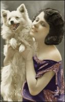 Maiden Flapper Lady Dog by daoodpirnazar