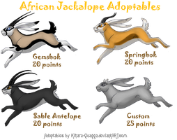 African Jackalope Adoptables - Customs OPEN by Kihara-Quagga