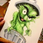 Oscar the Grouch II by Pencilbags