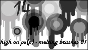 Melting brushes 01 by minnie-brushes