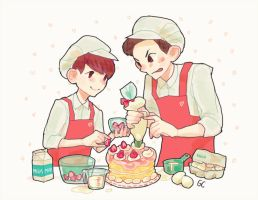 cake making with baekyeol by genicecream