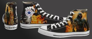 Disturbed Converse Design by ZachBobBob