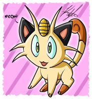 Meowth by Kaydolf