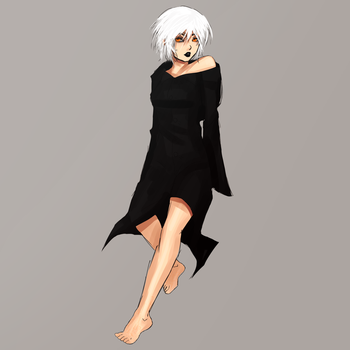 White Haired Woman by BethanyFrye