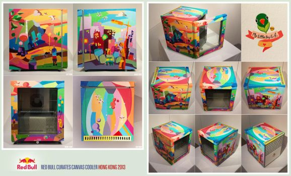 Red Bull Curates Canvas Cooler 2013 by hermanization