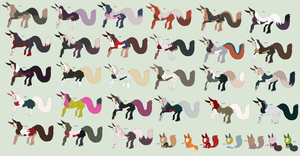 Free Adoptables batch 87 by Kitty-of-Doom524