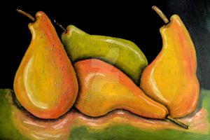 Pears on Suede by Abaez40