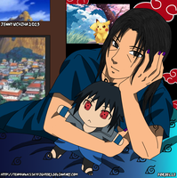 Itachi with His Sasuke Plushie by Levi-Ackerman-Heicho