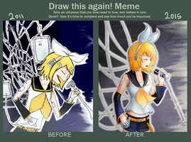 Draw this again: 2011-2015 by CindryTuna