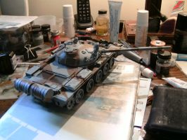 Tamiya 1/35 T-62 Progress report 3 by DelosQAndrews