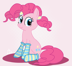 Pinkie Pie - in pigtails and socks by ronaldhennessy