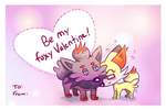 Cain and Mabel: Foxy Valentine 2017 by SquirrelKitty76