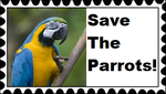 Save The Parrots Stamp by RedqueenAllison