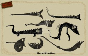 Horn sillouhettes2 by ZWYER