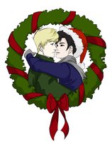 Billy and Teddy Christmas by CassperClearie