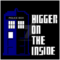 Bigger on The Inside Tardis Shirt by Pegbeard
