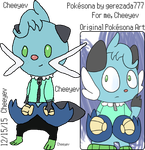 My Male Dewott Pokesona by Cheeyev