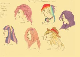 MLP: Head Sketches by BleedingHeartworks