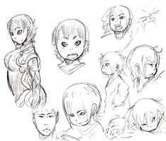 some faces and stuff by phation