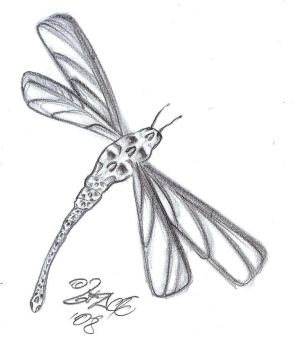 Skull Dragonfly Tattoo Design by 2Face-Tattoo