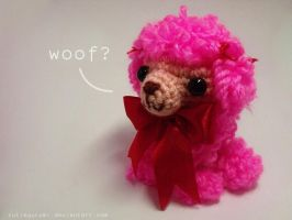 Fucshia the Pink Poodle by cutiegurumi