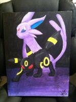 Umbreon and Espeon by inKarnidine