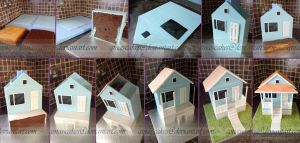 Gumballs House Stages by ginas-cakes