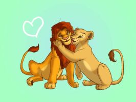 simba and nala wallpaper by WingsofaButterfly202