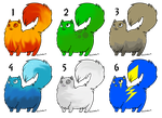 Chubby Elemental Cat adoptables - OPEN by ChillyAdoptables