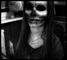 Skull makeup by Kazuren