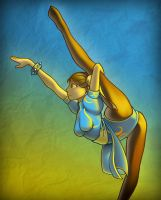 Chun Li stretches by twistgee