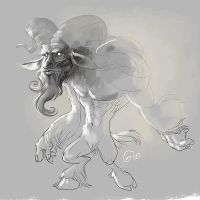 Doodle 131 - Satiro monster by giovannag