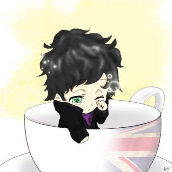 Sherlock in a cup by anyrei