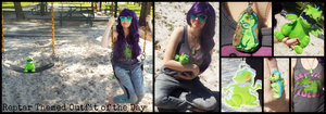 Reptar Themed Outfit of the Day by KrazyKari