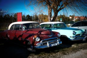 American cars in France. by jennystokes