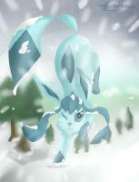 Glaceon [OLD] by LadyMalirra