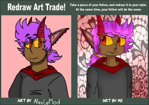 Redraw Art Trade - My Side by turbolovers