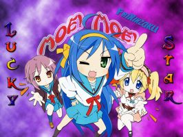 Wallpaper Lucky Star fixed by FriKinzoku