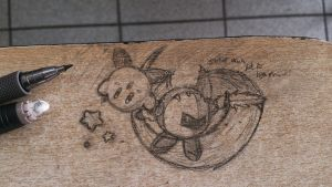 Doodle on a table by Pakurno