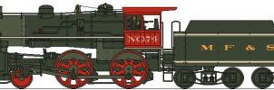 MFSC 4-4-0 NO.74 by Lapeer