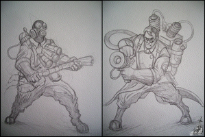 Team Fortress 2 Pencils by Narcotic-Nightmares
