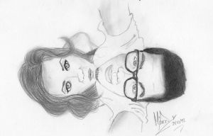 Couple in Pencil by Hiikarii65