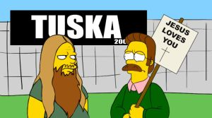 Ned Flanders at Tuska by uppuN