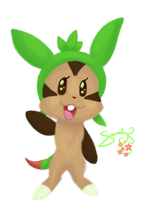 Chespin Sketch by LoneWolf974